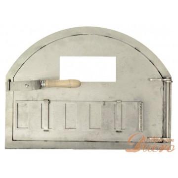 Puerta de INOXIDABLE para horno de leña con Cristal 500ºC