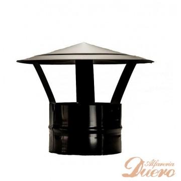 Sombrerete Remate chimenea horno de leña vitrificado negro Ø150 mm