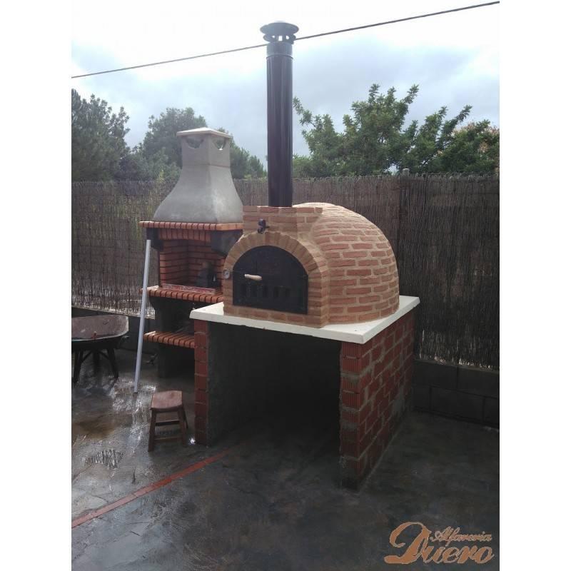 Sombrerete remate chimenea horno le a vitrificado negro - Chimeneas para hornos de lena ...