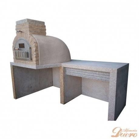 horno y mesa auxiliar de granito
