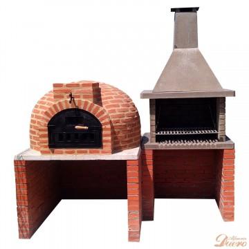 Horno, mesado, barbacoa y mesa auxiliar de granito