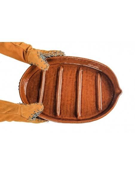 Manoplas con Asador Ovalado con estrias de 45 cm