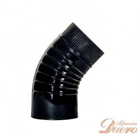 Codo vitrificado negro 45º Ø125mm para Hornos de Leña