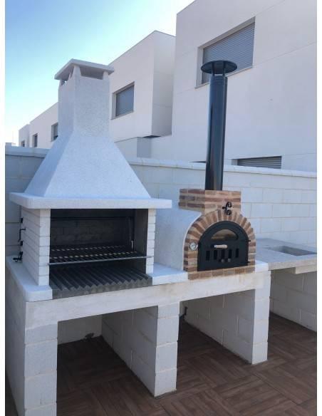 Conjunto de Horno Mesa y Barbacoa de Granito A6