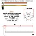 Pirometro 500ºC 400 mm con Vaina