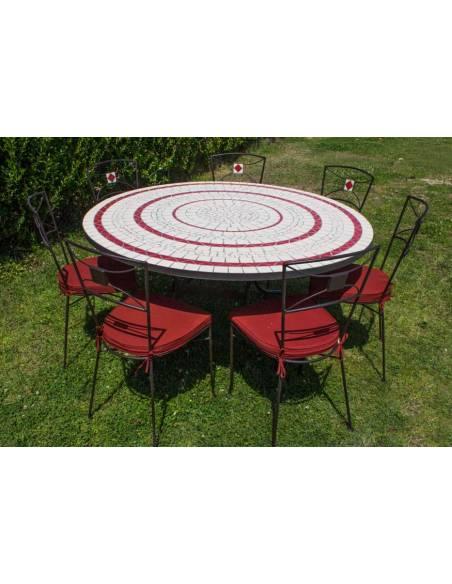 Promoción Sillas de Jardín con Mesa Redonda de mosaico craquelado de Regalo para hacer tu conjunto de mesa y sillas