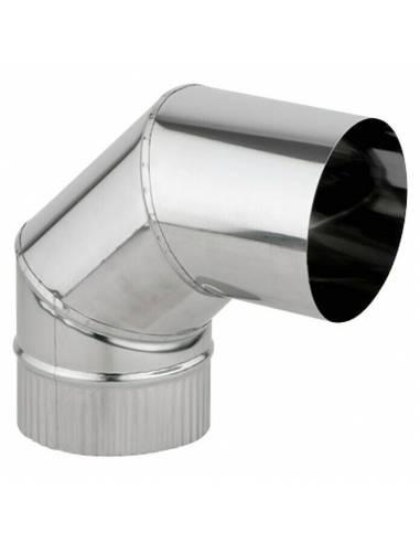 Codo INOX 90º para Hornos de Leña