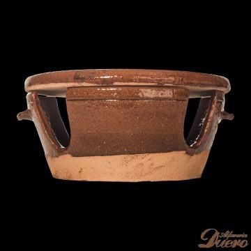 Fundue con plato de barro refractario