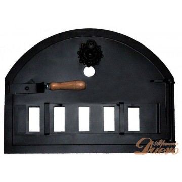 Puerta para horno de leña con Mirilla de Flor