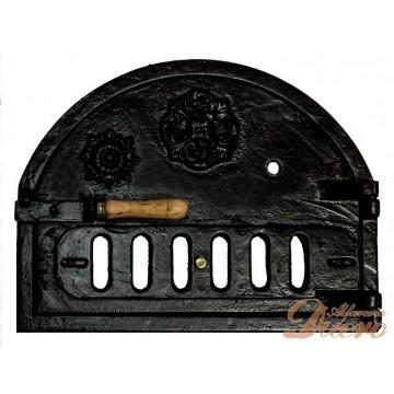 Puerta para horno de leña en hierro fundido