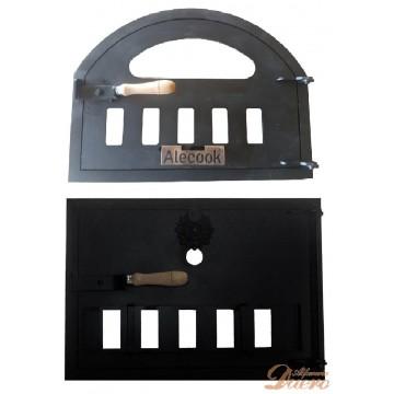 2 Puertas para horno de leña con hornilla
