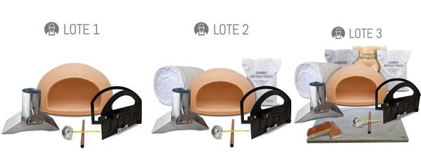 diferentes modelos de kits de fabricación de hornos de leña