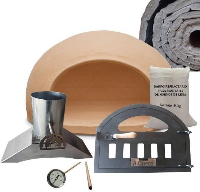 Pack con aislantes de materiales para construccion de horno de leña