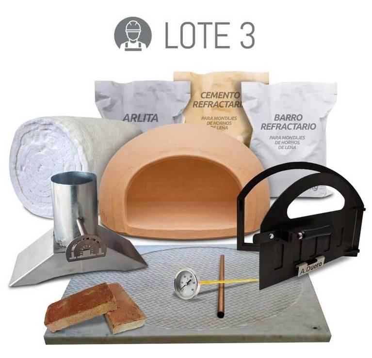 Pack completo de materiales para construccion de horno de leña