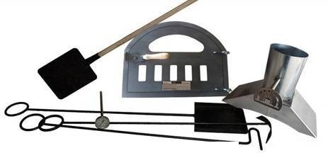 lote de puerta, chimenea con tiro y pirómetro para horno de leña