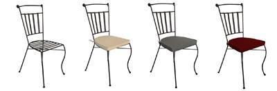 sillas de jardín con cojines lavables en diferentes colores