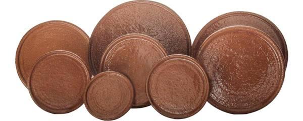 Platos de barro especial para cocinar en hornos de leña.
